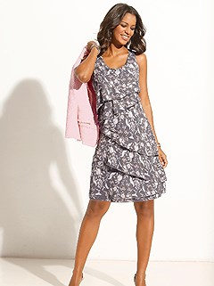 Floral Print A-Line Dress product image (417489.GYPR.1.1_WithBackground)