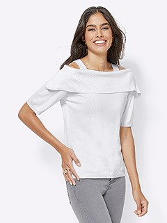 Carmen Neckline Sweater product image (417528.WH.5.1_WithBackground)