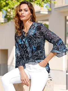 Airy Sheer Flared Sleeve Blouse product image (417576.RYMU.3.4_WithBackground)