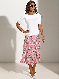 Floral Print Midi Skirt product image (417587.MEPR.1.1_WithBackground)