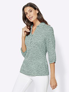 Minimalist Print Shirt Collar Blouse product image (417712.MTPR.3.1_WithBackground)