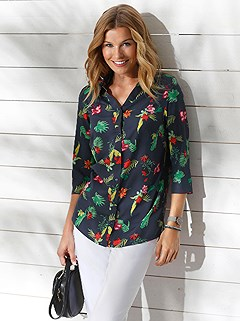 Tropical Button Up Blouse product image (417809.MU.1.2_WithBackground)
