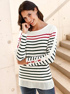 Layered Look Striped Sweater product image (417917.WHST.2.1_WithBackground)