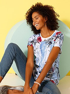 All Over Floral Dropped Shoulder Top product image (417943.WBPR.2.1_WithBackground)