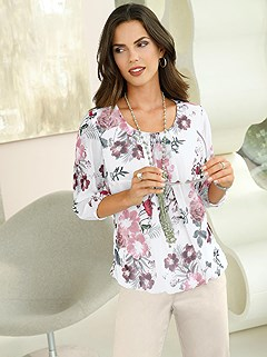 Georgette Fabric Floral Print Blouse product image (417999.ECPR.1.1_WithBackground)