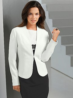 V-Neck Blazer product image (418009.WH.1.2_WithBackground)
