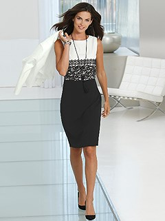 Sleeveless Shift Style Dress product image (418015.BWPA.1.1_WithBackground)
