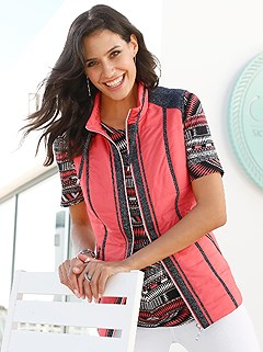 Lightly Padded Contrasting Vest product image (418077.COBK.1.1_WithBackground)