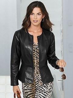 Tailored Cut Leather Jacket product image (418160.BK)