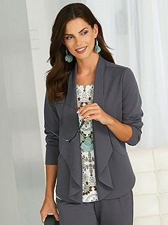 Layered Shawl Collar Cardigan product image (418191.CHAR.1.P)