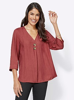 Flowing Mottled Look Blouse product image (418227.RU.4.1_WithBackground)