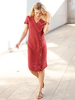 Asymmetrical Buttons Midi Dress product image (418228.RU.1.3_WithBackground)