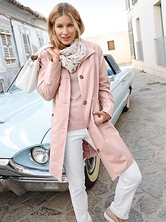 Turndown Collar Trench Coat product image (418300.RS.1.1_WithBackground)