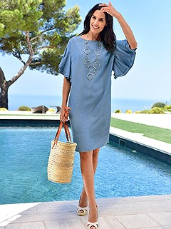 Denim Look Dress product image (418518.FADE.1.3_WithBackground)