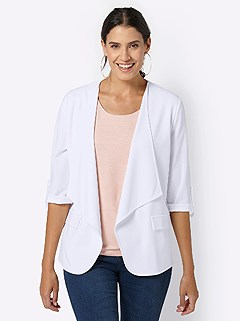 Flowy 3/4 Length Sleeve Cardigan product image (419805.WH.3.13_WithBackground)