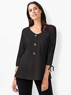 Button Up Peplum Top product image (419909.BK.3.1_WithBackground)