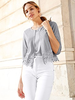 Flame Yarn Lace Hem Cardigan product image (420184.SVGY.1.2_WithBackground)