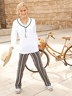Striped Casual Pants product image (420322.OFWH.1.1_WithBackground)
