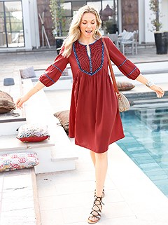 Peasant Look Boho Dress product image (420474.TC.1.2_WithBackground)