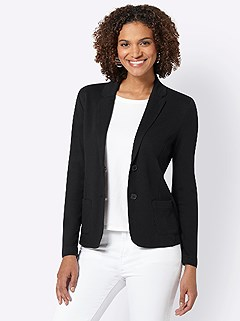 Relaxed Fit Jersey Blazer product image (420497.BK.3.1_WithBackground)