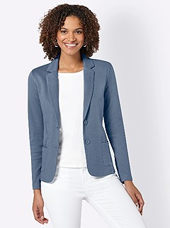 Relaxed Fit Jersey Blazer product image (420497.DEBL.3.1_WithBackground)