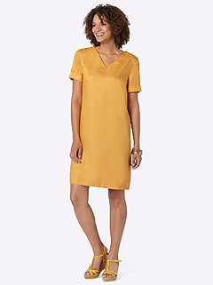 Slip-On V-Neck Dress product image (420530.DKYL.3.1_WithBackground)