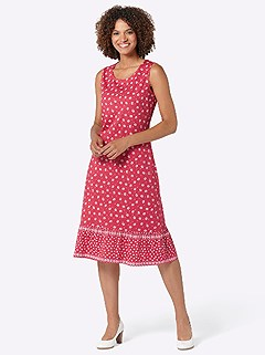 Floral Mix Midi Dress product image (420617.RDPA.3.1_WithBackground)