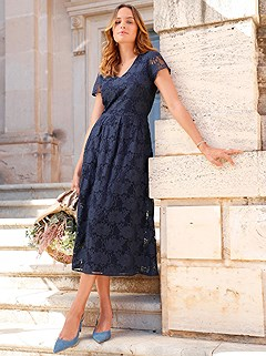 Swirling Floral Lace Midi Dress product image (420681.MTBL.2.4_WithBackground)