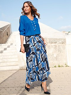 Multi Pattern Maxi Skirt product image (420722.RYMU.1.1_WithBackground)