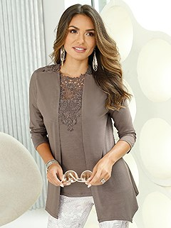 Lace Insert Cardigan product image (421132.TP.1.1_WithBackground)