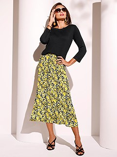 Sunny Floral Pattern Maxi Skirt product image (422258.BLPR.1.1_WithBackground)