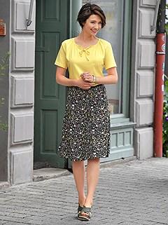 Floral Elastic Waist Skirt product image (422938.BKPR.1M)