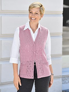 Ajour Knit Vest product image (423287.PURP.1.1_WithBackground)