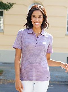 Mottled Polo Top product image (424338.LIMO.1.1_WithBackground)