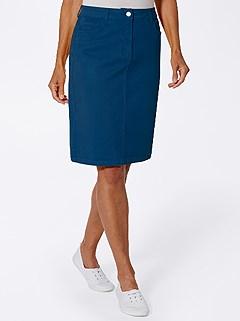 Denim Midi Skirt product image (424472.NV.3.1_WithBackground)