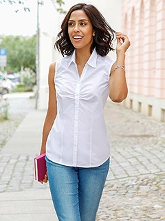 Sleeveless Button Up Blouse product image (424823.WH.1.1_WithBackground)