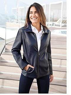 Soft Faux-Leather Jacket product image (426811.NV.2.1_WithBackground)
