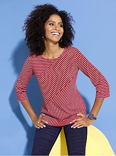 Contrasting Stripe Top product image (426845.RDST.3.1_WithBackground)