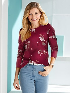 Long Sleeve Floral Top product image (427414.DRMU.1.M)