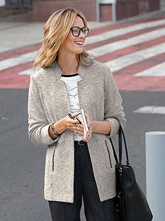 Open Style Boucle Jacket product image (427737.BKEC.1.M)