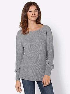 Ruffle Sleeve Detail Sweater product image (427742.GYMO.3.9_WithBackground)