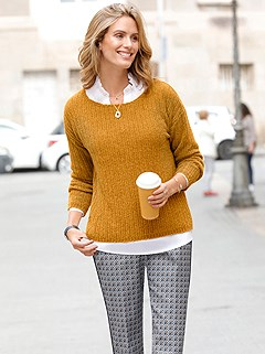 Boat Neck Chenille Sweater product image (427756.OCKE.1.8_P)