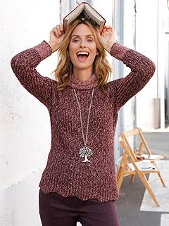 Curved Hem Turtleneck Sweater product image (427785.BURS.1.1S)