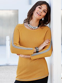 Shimmering Side Stripe Sweater product image (427906.OCSL.1.P)