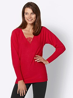 Long Sleeve V-Neck Sweater product image (427918.RD.3.10_WithBackground)