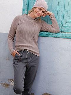 Ajour Pattern Knit Sweater product image (427926.MV.1.P)