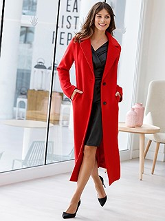 Wide Lapel Collar Long Coat product image (427929.RD.5.1_WithBackground)