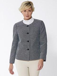 Mottled Bouclé Fabric Jacket product image (427930.BKMO.3S)