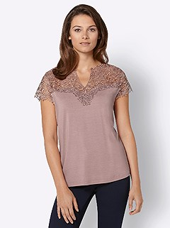 Lace Insert V-Neck Top product image (428013.RS.4.13_WithBackground)