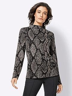 Metallic Snake Print Sweater product image (428030.BKPA.3.1_WithBackground)